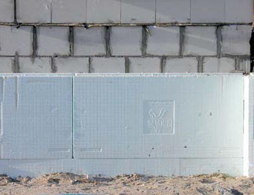 Ściany piwnicy z bloczków silikatowych