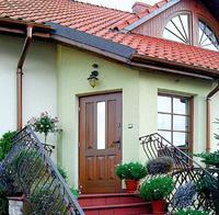 Ciepłe i ładne drzwi wejściowe