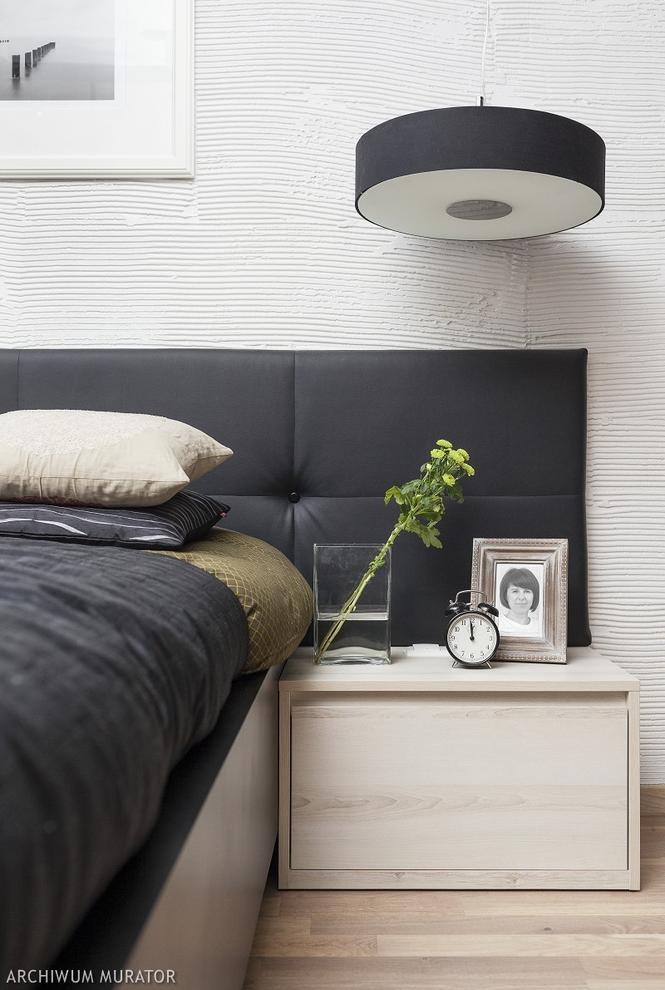 Zagłówek do łóżka - pikowany, czarny