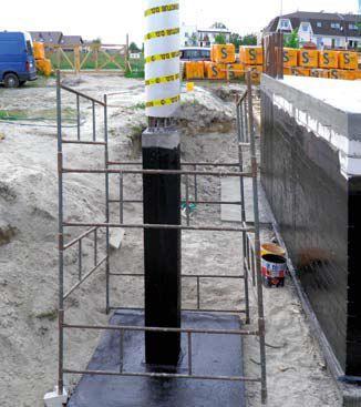 Wykonanie betonowego słupa