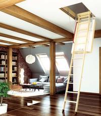Montaż schodów na strych