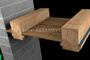 Odsłonięta drewniana konstrukcja stropu