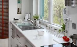 Wygodne otwieranie okna w kuchni. Co umieścić pod oknem - zlew, szafki, blat kuchenny?