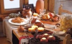 Rustykalny urok stołu